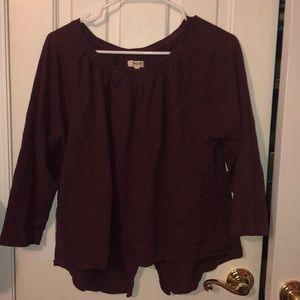 Madewell Burgundy Shirt